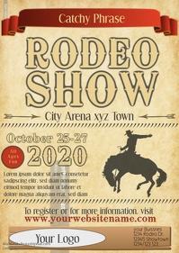 Rodeo Flyer show template parchment