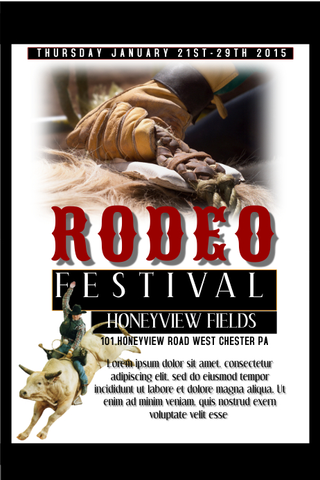 Rodeo Flyer Póster template