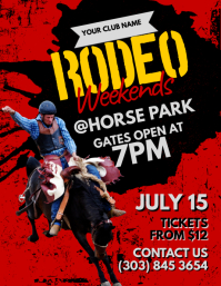 Rodeo Flyer Pamflet (VSA Brief) template