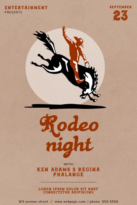 Rodeo Flyer Template Cartaz