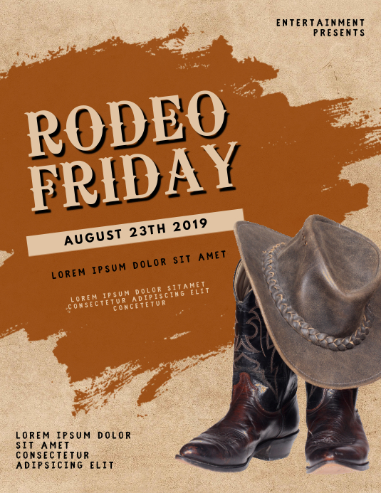 Rodeo Flyer Template Volante (Carta US)