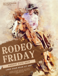 Rodeo Flyer Template Folder (US Letter)