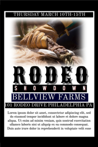 Rodeo Flyer Poster template