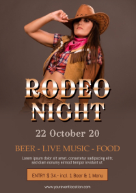 Rodeo Night Event Music Western Country Truck A4 template
