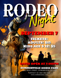 Rodeo Night Flyer Pamflet (Letter AS) template