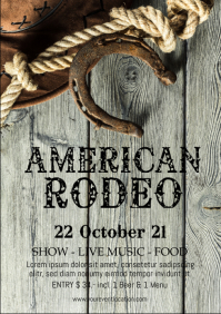 Rodeo Night Show Country Event Festival Flyer A4 template