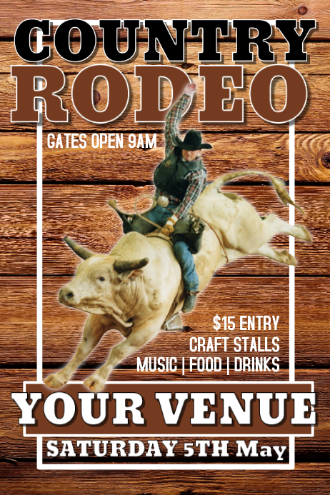 Rodeo Poster Plakat template