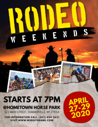 Rodeo Flyer Pamflet (Letter AS) template