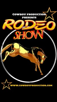 Rodeo show advert Instagram Story template