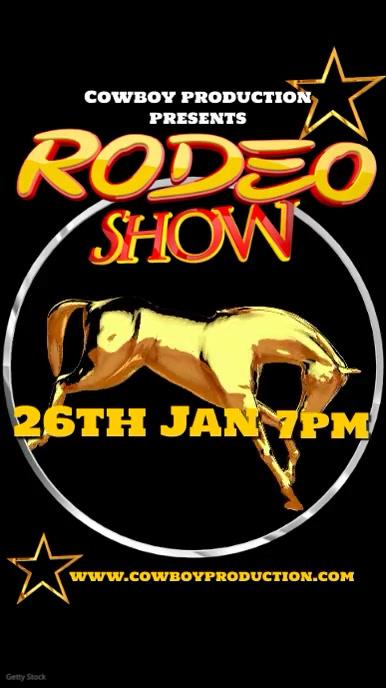 Rodeo show advert Instagram-verhaal template