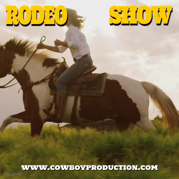 Rodeo Show Instagram template