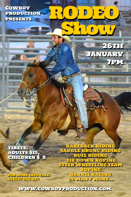 rodeo show Poster template