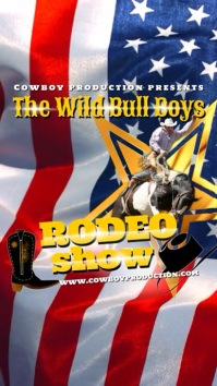 Rodeo Show Digitale display (9:16) template