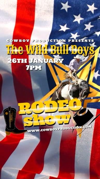 Rodeo Show Ecrã digital (9:16) template