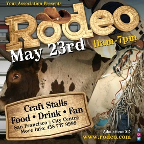 Rodeo Show Video Template Quadrat (1:1)