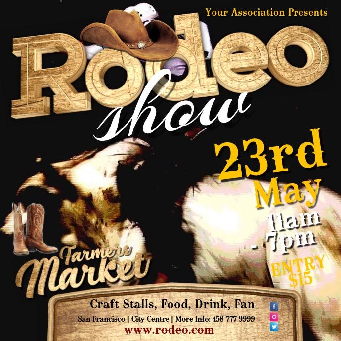 Rodeo Show Video template Kvadrat (1:1)