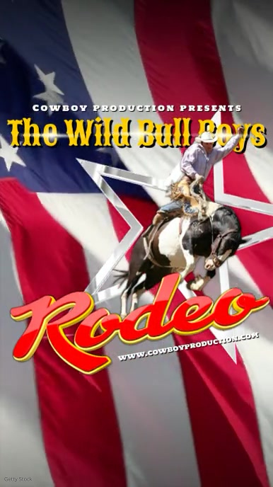 Rodeo Video Template Ekran reklamowy (9:16)