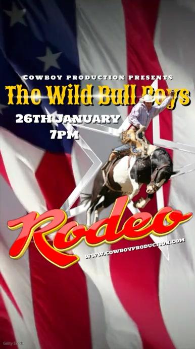 Rodeo Video Template Digital na Display (9:16)