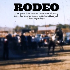 RODEO VIDEO TEMPLATE Square (1:1)