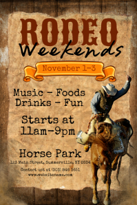 Rodeo Weekends Poster Plakkaat template