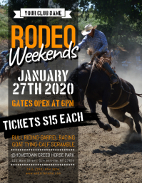 Rodeo Weekends Flyer