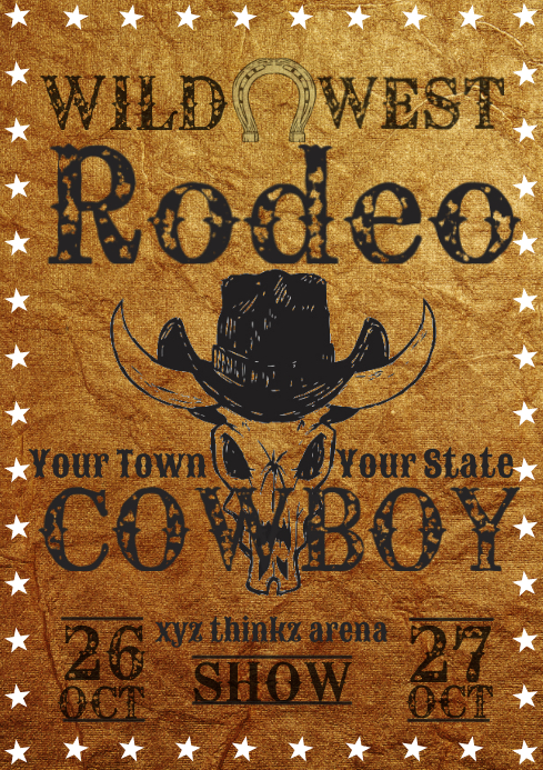 Rodeo wild west show template