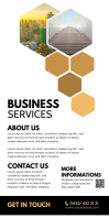 Roll up Banner business Company Services Fair