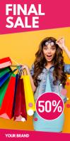 Roll up Banner Fashion Store Shop Sale Design
