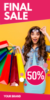 Roll up Banner Fashion Store Shop Sale Design template