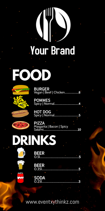 Roll up banner food offer party event fair ad