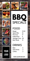 Roll Up Banner Food Truck Take Away Fast Menu Cartel enrollable de 3 × 6 pulg. template