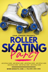 16 960 Skate Party Customizable Design Templates Postermywall