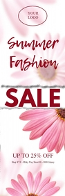 Rollup Banner Sale Flowers Fashion Shop Ad