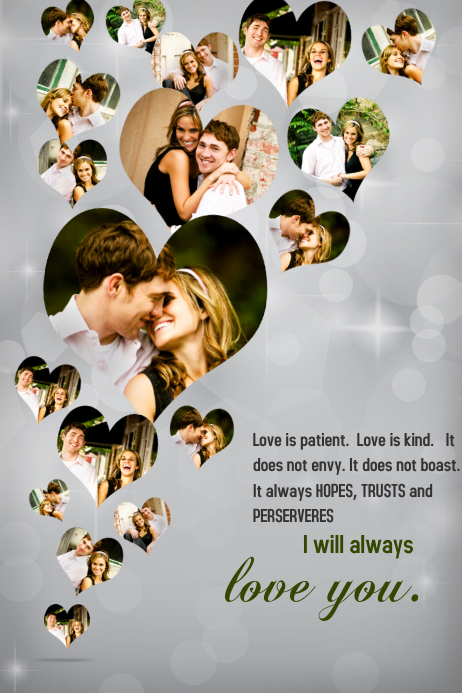 Romantic Collage Template