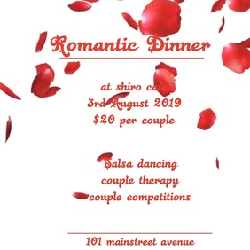 ROMANTIC DINNER VIDEO TEMPLATE