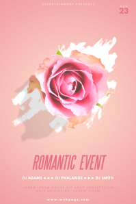 Romantic Event Flyer Template