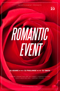 Romantic Event Flyer Template