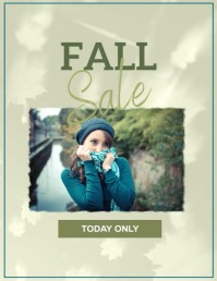 Romantic fall sale event template