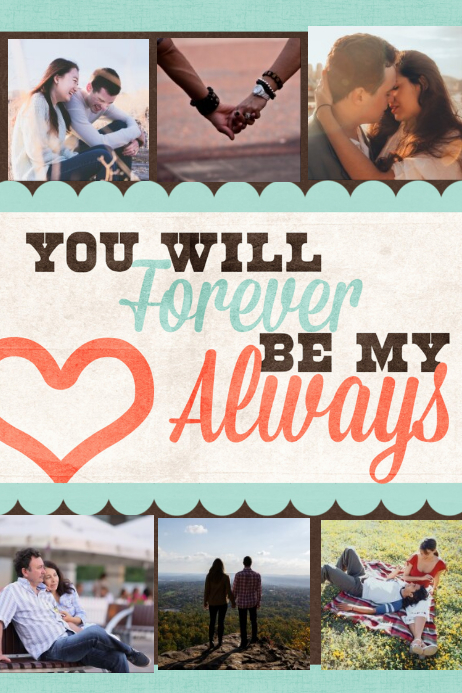 Romantic Gift Valentines Day I love you poster flyer