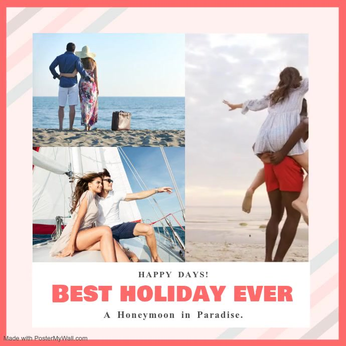 Romantic Holiday Collage Square Video