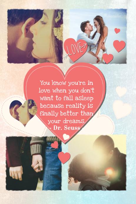 Romantic Photo Collage Template