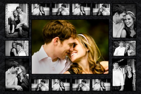 Customize 760 romantic poster templates postermywall valentines photo collage template wedding invitation maxwellsz