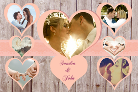 Romantic Photo Collage Template