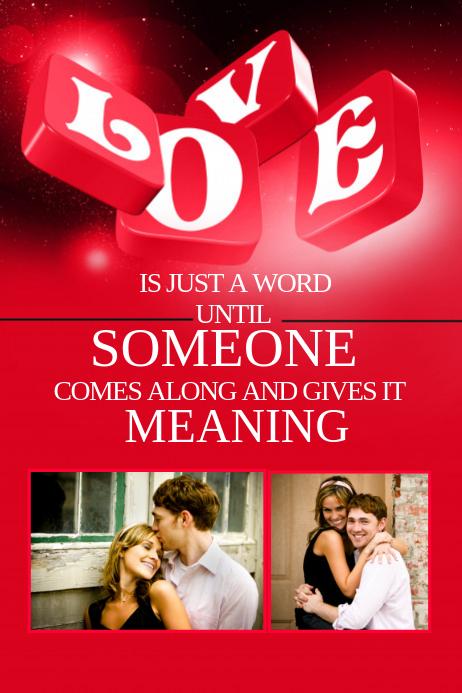 Romantic Poster Template