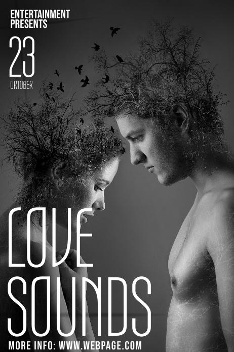 Romantic Soul Love music event template