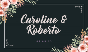 Romantic Tag for Couples Cartellino template