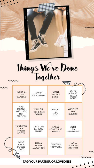 Romantic Things we've done together Instagram template