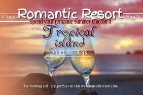 Romantic Travel Poster Template