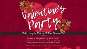 Romantic Valentine's Party Dinner Invitation