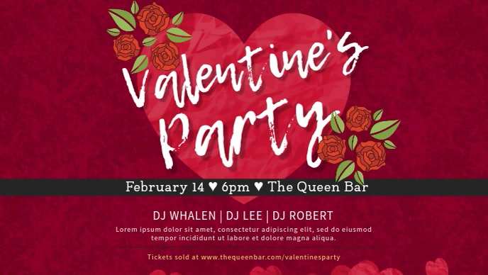 Romantic Valentine's Party Dinner Invitation